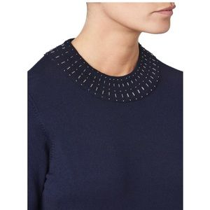 Eastex (UK Brand) Beaded Neck Jumper